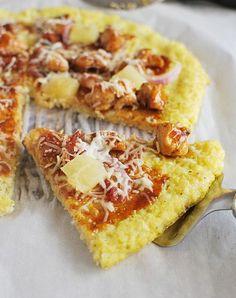 Cauliflower Pizza Crust - cauliflower, egg, shredded mozzarella, salt, Italian seasoning, black pepper