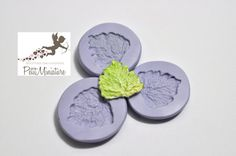 Flexible silicone mold leaf salad 20mm dollhouse miniature polymer clay jewelry kawaii ST210