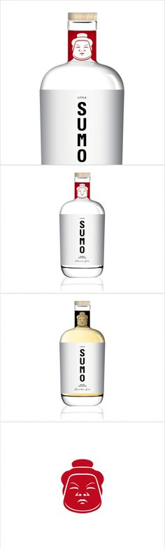 Little Sumo Is a Fresh Conceptual Take on Gin — The Dieline   Packaging & Branding Design & Innovation News