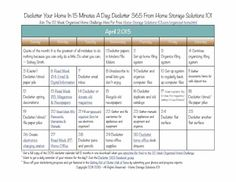 Free printable April 2015 declutter calendar with daily 15 minute decluttering missions {on Home Storage Solutions 101}