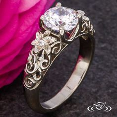 Lily Blossom Engagement Ring