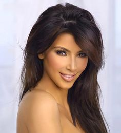 Kim Kardashian, she might be as dumb as a rock but I love her hair and makeup Cute Hairstyles, Wedding Hairstyles, Looks Kim Kardashian, Femmes Les Plus Sexy, Belleza Natural, Hair Dos, Gorgeous Hair, New Hair, Hair Inspiration