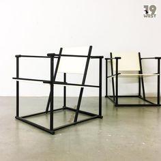 Bald bei www.19west.de: zwei FM60 Chairs entworfen von Radboud van Beekum für Pastoe. #19west #vintage #retro #design #furniture #furnituredesign #dutch #dutchdesign #pastoe #80's #eighties #interior #interiordesign #home #homedecor #cube #minimal