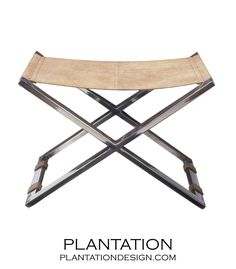 PLANTATION | Mister X Chrome Stool | Beige