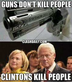 gun clintons meme                                                                                                                                                                                 More
