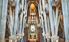 Antoni Gaudí's vision for the lighting of the Temple Expiatori de la Sagrada Familia is taking shape under architect Jordi Faulî and Anoche Iluminació Arquitectónica.