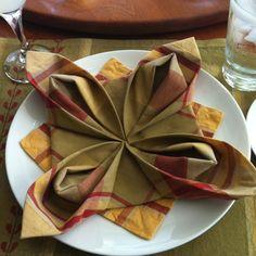 Holiday napkin fold