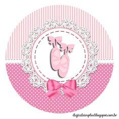 """Custom Theme Kit """"Ballerina Rose"""" for Print - Simple Digital Invitations Ballerina Birthday Parties, Ballerina Party, Girl Birthday, Ballerina Baby Showers, Baby Ballet, Tutu Party, Baby Frame, Bottle Cap Images, Baby Christening"""