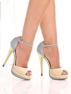 Fredericks of Hollywood Strappy Heels | Madison Two-Tone Sandal from Frederick's of Hollywood