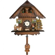 River City Clocks Quartz Cuckoo Clock with Dancers Westminster Bell or Cuckoo 7 Inches. $189.99