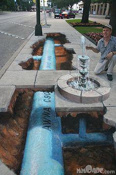 3D Chalk Art , Street Art
