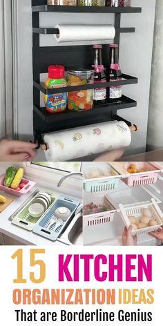 Kitchen Organization Pantry, Sink Organizer, Small Space Organization, Kitchen Cabinet Organization, Home Organization Hacks, Kitchen Storage, Kitchen Organizers, Organize Small Spaces, Organizing Small Apartments