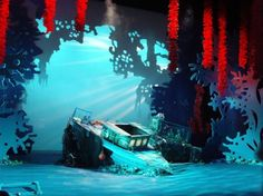 Not from Broadway, but would be cool for a high school production! Reminds me of the sunken ship we first see Ariel at in the movie with Flounder!
