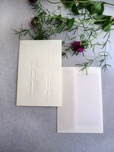 The Fanous medium sized folding cards from www.thesecretink.in - hand embossed on luxury paper, muted and elegant motif suitable for every occasion! www.facebook/thesecretink
