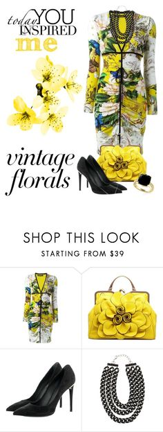 """Florals in Yellow"" by shamrockclover ❤ liked on Polyvore featuring Roberto Cavalli, Louis Vuitton, Pluma and Effy Jewelry"
