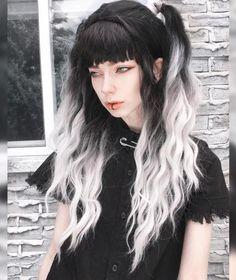 Exotic Hair Color, Beautiful Hair Color, Cool Hair Color, Gothic Hairstyles, Pretty Hairstyles, Coiffure Hair, Aesthetic Hair, Hair Reference, Hair Dye Colors