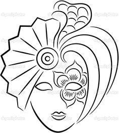 carnival masks to color | Carnival mask | Stock Vector © Inna Esina #2549322