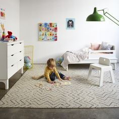 I love the carpet tiles for a bonus room / playroom.
