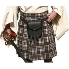 16-oz Heavy Acrylic Wool Pieces Gun Ancient Tartan Kilt Handmade Men/'s Traditional Scottish Highland 10