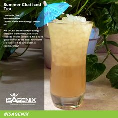 With the heat of the summer sun in full effect, you might be feeling zapped of energy. What better way to feel refreshed than with an iced tea specifically tailored to replenish your body's nutritional needs? The Summer Chai Iced Tea is the perfect recipe to feel instantly refreshed.