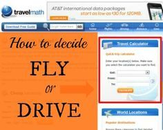 How to decide  compare Fly or Drive for your vacation trip || StuffedSuitcase.com travel budgeting planning tip