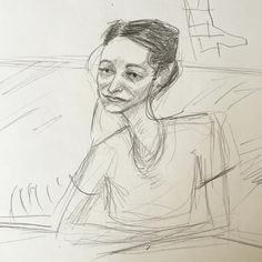 Drawing of Tera from last nights drink and draw at the Wab. #draw #drawing #portrait #artist #sketch