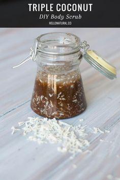 DIY Skin Care Recipes : Triple Coconut DIY Body Scrub