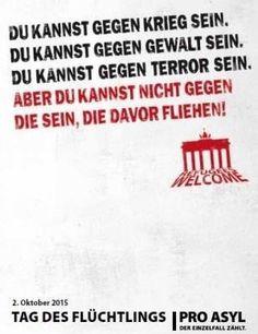 Bitte nicht wegsehen!!  Welcome refugees ☺️