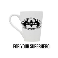Batman Coffee Cup, Batdad Coffee Cup, Father's Day Gift, Gift For Dad, Superhero Coffee Cup, Gift For Him, Fathers Day Gift, Dad Coffee Mug by BlueKitty2000 on Etsy Ceramic Coffee Cups, Coffee Mugs, Dad Superhero, Fathers Day Mugs, Vinyl Designs, Gifts For Dad, Christmas Ideas, Batman, Kitty