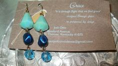 super neat earrings with a history! Made from a necklace that dated to the early 1930s, all vintage plastic and great colors!