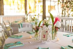Eclectic Pink and Aqua Wedding in paradise cove orlando