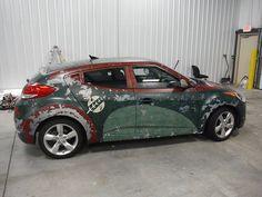 'Ivor Fett',A 'Star Wars'-Themed Hyundai Veloster Covered in a Custom Boba Fett-Style Vehicle Wrap