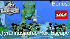 Jurassic World Lego Game Bonus Level Tyrannosaurus Rex Escape Gameplay W...