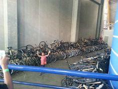 Bicicletas de bambu ficam abandonadas em CEU Paraisópolis - Bruno Paes Manso