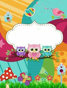 Owl Clip Art, Owl Art, Borders For Paper, Borders And Frames, Cute Owls Wallpaper, Kindergarten Coloring Pages, Boarder Designs, Owl Classroom, Apple Watch Wallpaper