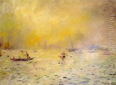 View Of Venice  Fog by Pierre Auguste Renoir