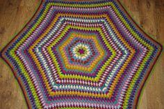 Crochet doily round rug 63'' 160 cm/Crochet by AnuszkaDesign, $180.00
