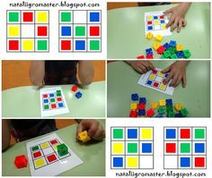 Sudoku de 3x3 con policubos muy sencillos.  #Policubos #Unifix #Multicubos #matemáticas #lógica #sudoku