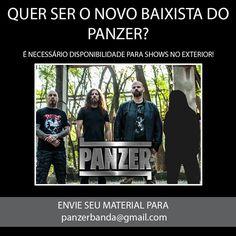 Um dos principais nomes do Metal nacional, nascido há mais de 25 anos, com experiência internacional e quatro discos lançados está à procurada de um novo baixista. Estamos falando do paulista PANZE…