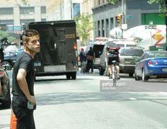 Rami Malek during filming of season one of Mr Robot in 2015. #MrRobot…