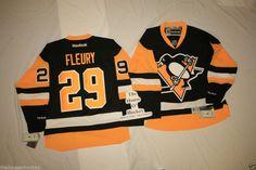 THE HOUSE O HOCKEY FLEURY NHL NEW 3RD PITTSBURGH PENGUINS REEBOK PREMIER ALTERNATE HOCKEY JERSEY