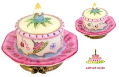 Rochard Birthday Cake Limoges Box