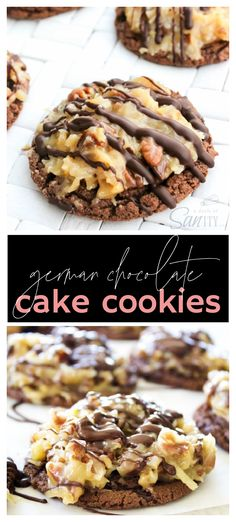 Holiday Cookie Recipes, Best Cookie Recipes, Best Dessert Recipes, Fun Desserts, Delicious Desserts, Homemade Cookies, Sugar Cookies Recipe, German Chocolate Cake Cookies, Favorite Cookie Recipe