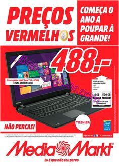 Promoções Folheto Media Markt - de 22 a 28 de Janeiro - Preços vermelhos, comece o ano a poupar à grande! - Norte