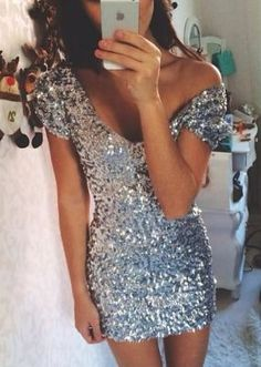 Silver Sequin Ariel Party Dress - new arrivals - https://dreamclosetcouture.us/collections/new-arrivals/products/silver-ariel-sequin-party-dress - Apply code DREAM10 for 10% off