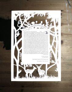 Naomi Shiek's custom papercut ketubahs