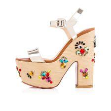 Resultado de imagem para Christian Louboutin Zeppa 140 platform wedge shoes EU size 37.5- Sold out