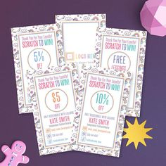 LuLaRoe Unicorn Scratch Off Cards Free Personalized Home Office