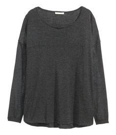 Fine-knit Sweater | Dark gray melange | Ladies | H&M US