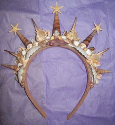 Diva of the Sea Shell Mermaid Crown by PotatoinaJacket on Etsy